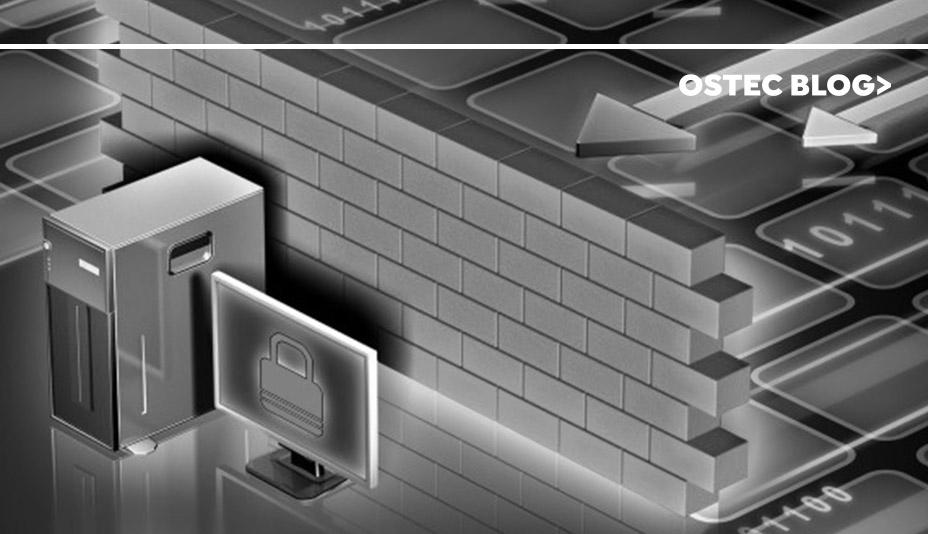 Imagem cetorizada de parede protegendo computador de ataques