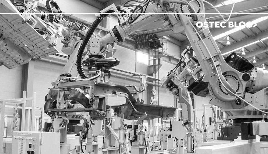 Máquina dentro de uma fábrica