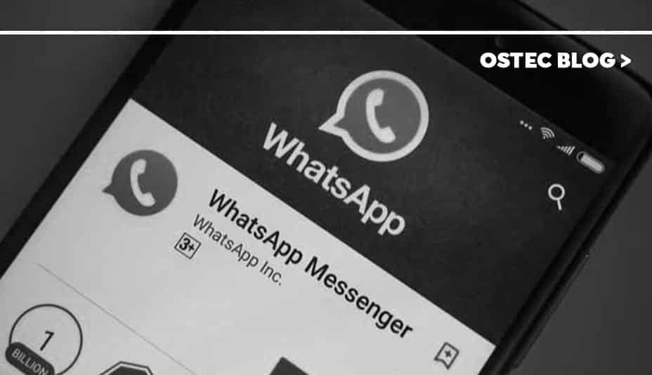 Aplicativo do whatsapp aberto em smartphone android