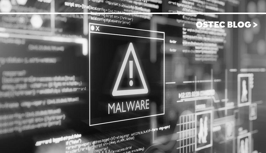 """Triangulo com um ponto de exclamação dentro e embaixo pode-se ler """"malware"""""""