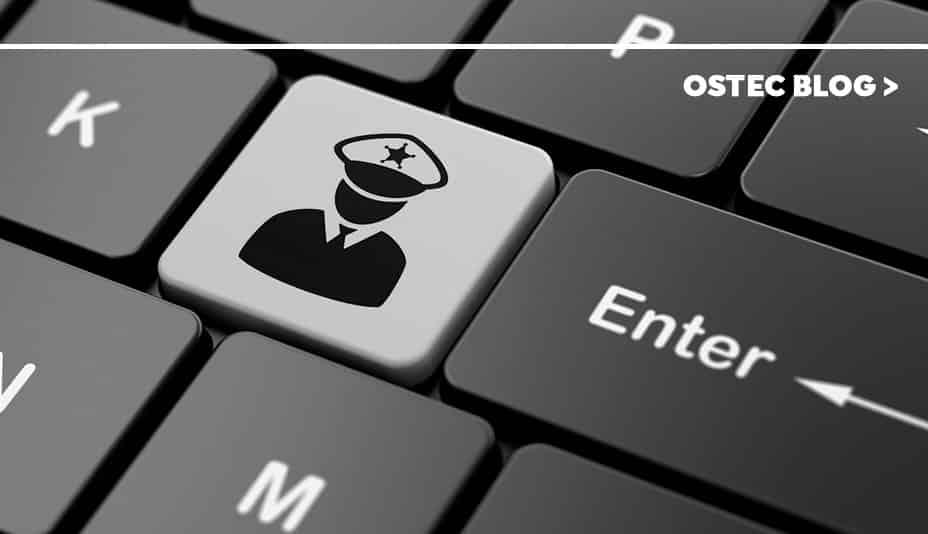 Símbolo de autoridade em teclado de notebook